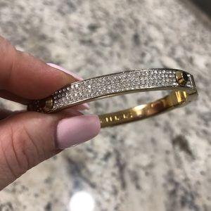 Women's gold Michael Kors bracelet